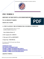 Fec Disclosure Form 3 for Curt Clawson- The Outsider for Congress Committee