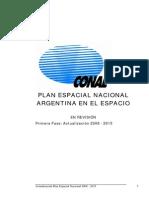 Plan Espacial Nacional_actualizacion 2008-2015