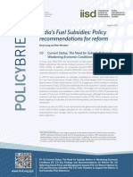 India Fuel Subsidies Policy Brief