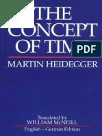 Heidegger, Martin - Concept of Time, The (Blackwell, 1992)