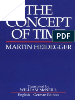 Heidegger, Martin - Concept of Time, The (Blackwell, 1992)