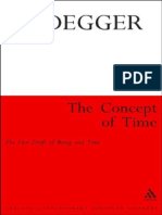 Heidegger, Martin - Concept of Time, The (Continuum, 2011)