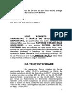 PETIÇÃO DE CONTESTAÇÃO DE USUCAPIÃO-JOSÉ ROBERTO DAMASCENO