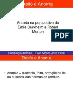 SOCIOLOGIA JURÍDICA E JUDICIÁRIA - AULA 14 - DIREITO E ANOMIA