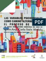Las variables psicosociales como camino alternativo en el proceso de diseño. Las nuevas organizaciones domésticas del siglo XXI.