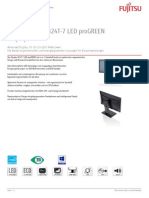 Bwpc4 Datenblatt de Display FUJITSU B24T 7 LED ProGREEN