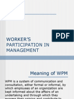 Worker-s Participation in Management