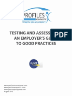 Assessment- An Employers Guide to Good Practices