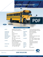 Blue Bird Propane-Powered Vision Specification Sheet