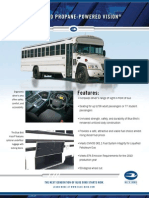Blue Bird Propane-Powered Vision Activity/MFSAB Specification Sheet
