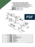 Cambio Deore Rd-m510-s (Sgs) Rd-m510-l (Sgs)