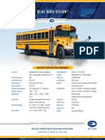 Blue Bird Vision School Bus Specification Sheet (Cat Engine)