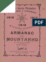Armanac dera Mountanho. - Annados 09-10-11, 1916, 1917, 1918
