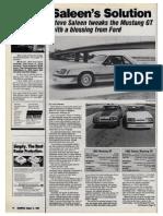 1985 Saleen Mustang GT drive review