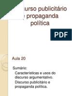 Discurso publicitário e político