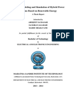 Dynamic Modeling and Simulation of Hybrid Power Systems Based on Renewable Energy