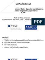 UAV Activities at Center for Autonomus Marine Operations