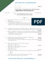 DSP Algorithms & Architecture Jan 2014