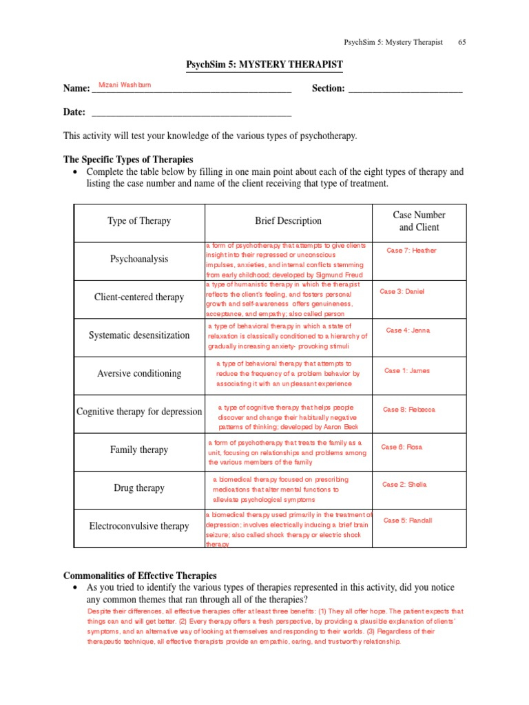 Worksheets Psychsim 5 Worksheets psychsim worksheets bloggakuten 39 mysterytherapist