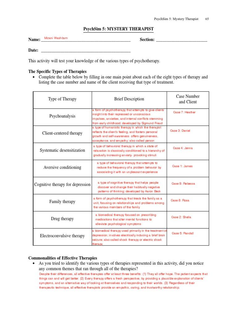 Uncategorized Psychsim 5 Worksheet Answers 39 mysterytherapist behaviour therapy psychotherapy