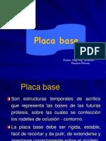 Placa Base y Rodetes Actual