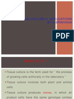 tissue culture and their applications