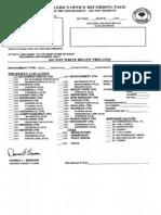 Kiryas Joel Annexation Agreement Filing Sheet