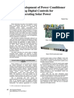 Development of Power Conditioner Using Digital Controls for Generating Solar