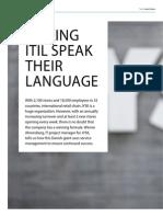 Making ITIL Speak Their Language