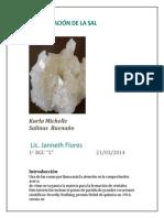 Cristalización de la sal