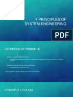 7 Principles of System Engineering