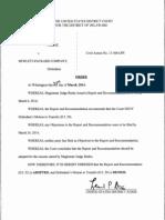 MAZ Encryption Technologies LLC v. Hewlett-Packard Company, C.A. No. 13-306-LPS, Order (D. Del. Mar. 28, 2014)
