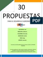 30 Propuestas Para El Desarrollo Agroindustrial - GAPU AGRO Marzo 2014
