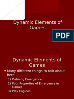 Dynamic Elements of Games