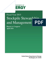 Fiscal Year 2015 Stockpile Stewardship and Management Plan