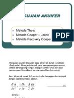5. UJI AKUIFER Metode Theiss Jacob Dll