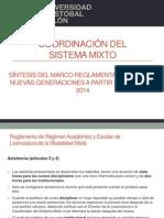 Síntesis del marco reglamentario del Sistema Mixto UCC