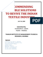 Solutions to revive indian textile industry