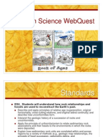 earth science webquest