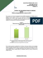 Encuesta IFE percepción seguridad marzo 2014