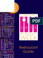 Morristown Restaurant WeeK Official Guide 2014 Final Pages