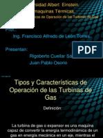 Tipos y Características de Operación de las Turbinas