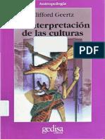 Clifford Geertz La interpretación de las culturas  2010