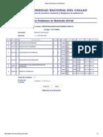 Reporte de Registro de Matricula