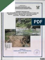 Geologia y Geotecnia Canal Sr Milagros