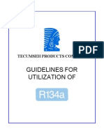Tecumseh Guidelines for Utilization of R134a