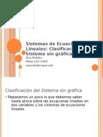Sistemas de Ecuaciones Lineales-Clasificacion No Graf