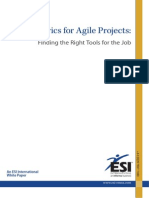 Metrics for Agile Projects - Finding the Right Tools for the Job