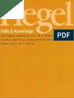 Hegel, G.W.F. - Faith & Knowledge (SUNY, 1977)