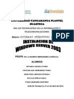INSTALACIÓN WINDOWS 2003 SERVER